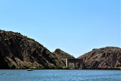 Canyon Lake, Maricopa County, Arizona, United States. Canyon Lake water gateway located in Maricopa County, Arizona United States during the Spring Royalty Free Stock Photography