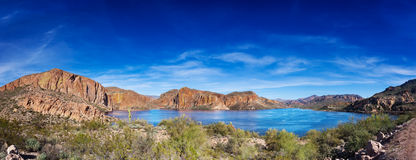 Canyon Lake panorama Stock Photo