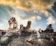 Canyon on Lanzarote Stock Image