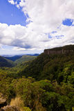 Canyon Lookout. Wide angle portrait view of a valley from Canyon Lookout Stock Image