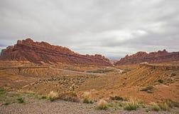 Canyon macchiato del lupo L'Utah 1 Fotografia Stock Libera da Diritti