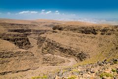 Canyon in Maroccan mountains Royalty Free Stock Photography