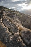 Canyon after the massive earthquake. With rockfall royalty free stock photos