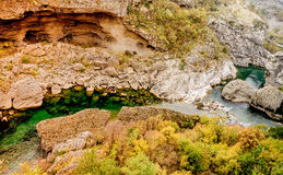 Canyon Moraca in Montenegro, Europe Royalty Free Stock Photos