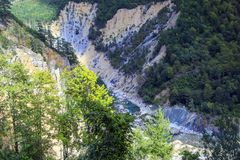 Canyon of Moraca River, Montenegro stock images