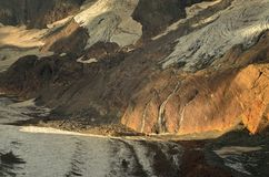 Canyon in morning. This is gloomy canyon in Caucasus mountains in morning Royalty Free Stock Photos