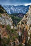 Canyon and mountain range Royalty Free Stock Image