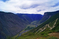 Canyon of the mountain river Royalty Free Stock Photography