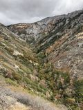 Utah Canyon in Fall Color stock image