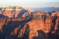 Canyon multicolori a più strati immagine stock