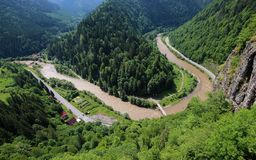 Canyon of the Mures river in Transylvania Stock Photography
