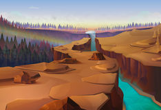 Canyon nature background. Canyon, nature vector illustration background royalty free illustration