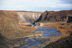 Canyon near Dettifoss Royalty Free Stock Images