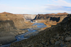 Canyon near Dettifoss Royalty Free Stock Photos