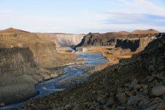 Canyon near Dettifoss. Waterfall, Iceland royalty free stock photos