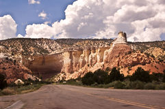 Canyon near Ghost Ranch. This is a canyon near Ghost Ranch and Abiquiu, New Mexico- just north of Santa Fe royalty free stock photography