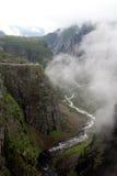Canyon near Voringfossen waterfall, Norway Stock Photo