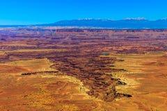 Canyon nel parco nazionale di Canyonlands Fotografia Stock Libera da Diritti