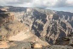 Canyon nelle falsità di Jabal Immagine Stock Libera da Diritti