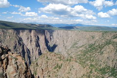Canyon nero del Gunnison Fotografie Stock Libere da Diritti