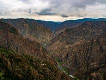 Canyon nero del Gunnison Overlok, vista del canyon immagini stock