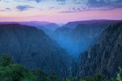 Canyon nero del parco nazionale di Gunnison, in Montrose Coun immagine stock libera da diritti