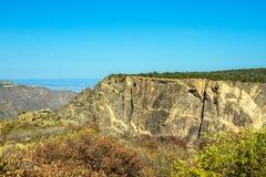 Canyon nero della sosta nazionale di Gunnison immagini stock