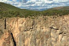Canyon noir Photo libre de droits