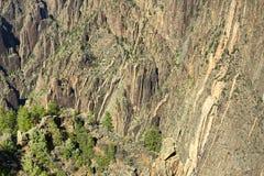Canyon noir Image libre de droits