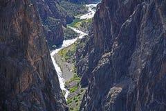Canyon noir du Gunnison à la vue peinte de mur photos libres de droits