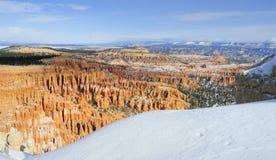 Canyon NP di Bryce in inverno Fotografie Stock Libere da Diritti