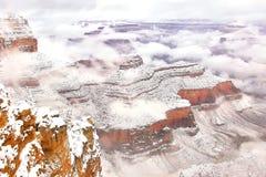 Canyon nuageux Photo libre de droits