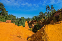 The canyon of ocher - natural dyes Stock Photos