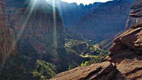 Canyon Overlook at Zion Stock Image