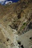 Canyon, pakora trek. Pathway across the canyon by the pakora trek, remote landscape in karakoram Royalty Free Stock Photography