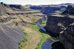 Canyon in Palouse Falls State Park Royalty Free Stock Images