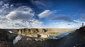 Canyon panoramic view Royalty Free Stock Photography
