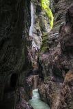 Canyon Partnachklamm in Garmisch-Partenkirchen Stock Images