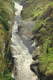 Canyon of the Pastaza River in Banos, Ecuador Stock Images