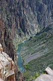 canyon pegmatyt czarny Zdjęcia Stock