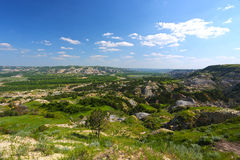 Canyon peint dans les bad-lands, Theodore Roosevelt National Park Photographie stock