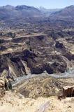 Canyon Perù di Colca Immagine Stock