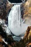 Canyon più basso della gola di caduta dell'acqua di Yellowstone Immagini Stock Libere da Diritti