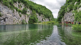 Canyon on Plitvice lakes in Croatia Royalty Free Stock Photography