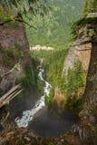 Canyon près des automnes de Spahats Photographie stock