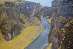Canyon profondo del fiume Fotografia Stock