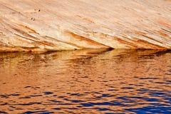 Canyon Reflection Abstract Lake Powell Arizona Royalty Free Stock Photo