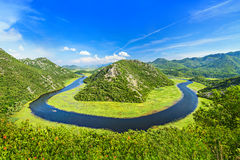 Canyon of Rijeka Crnojevica river in Skadar Lake National Park,. Canyon of Rijeka Crnojevica river in Skadar Lake National Park. One of the most famous views of Stock Photography