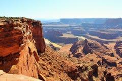 Canyon rim desert Stock Photos