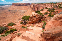 Canyon Rim Hiking Trail Photographie stock